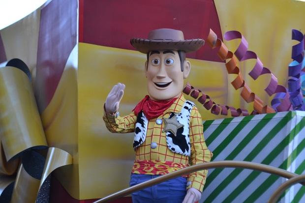 Woody no desfile