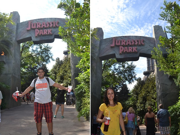 Atração do Jurassic Park é incrível