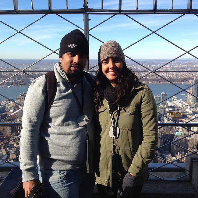 Nós no topo do Empire State