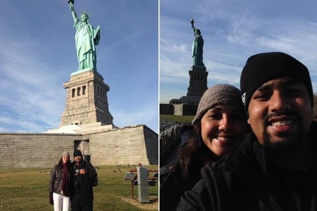 A famosa Estátua da Liberdade