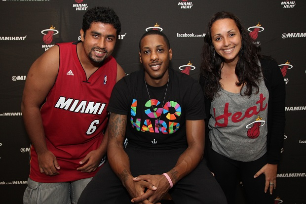 Finalmente, o Meet and Greet: nós e Mario Chalmers