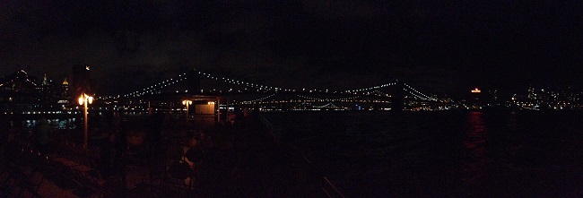 Panorâmica da Brooklyn Bridge