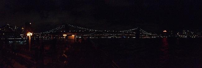 Panorâmica da Brooklyn Bridge