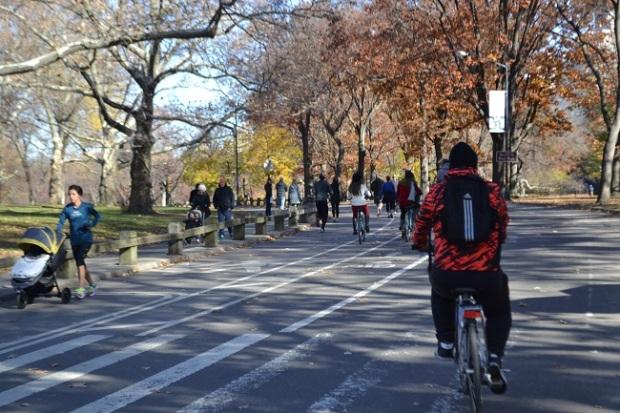 Pedalar no Central Park é bom demais