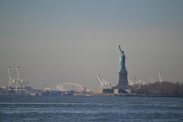 Estátua da Liberdade vista ainda de bem longe