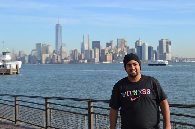 Manhattan vista da Estátua da Liberdade