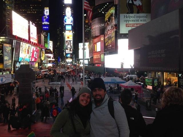 A famosa Times Square