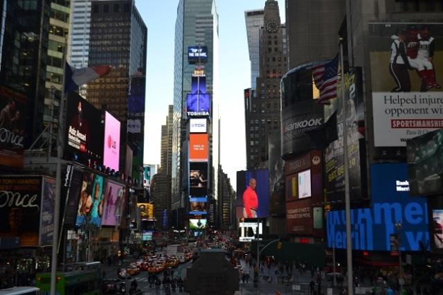 A Times Square é impressionante