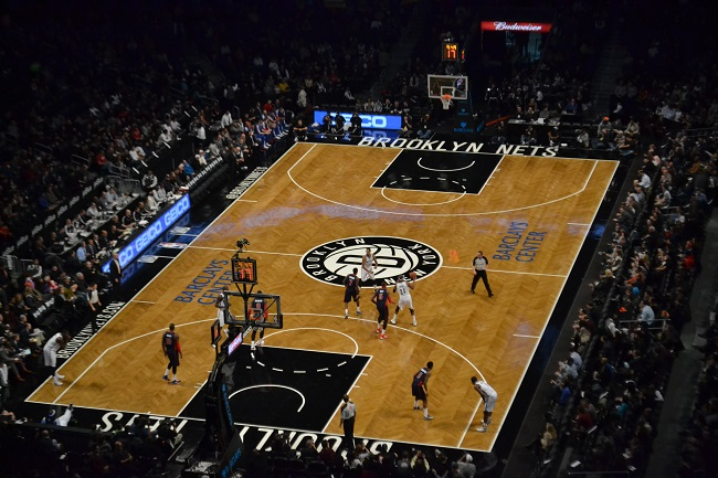 Barclays Center para Nets x Pistons