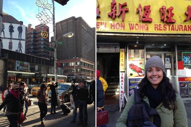 Aline curtindo Chinatown