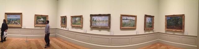 Panorâmica dos quadros de Monet no MET pra fechar bem o post