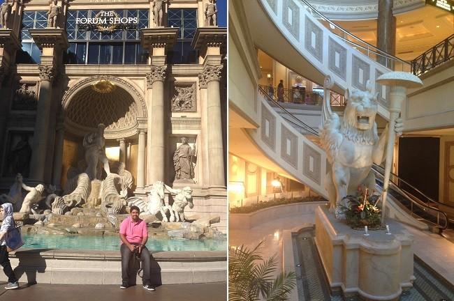 O belo shopping do Caesars