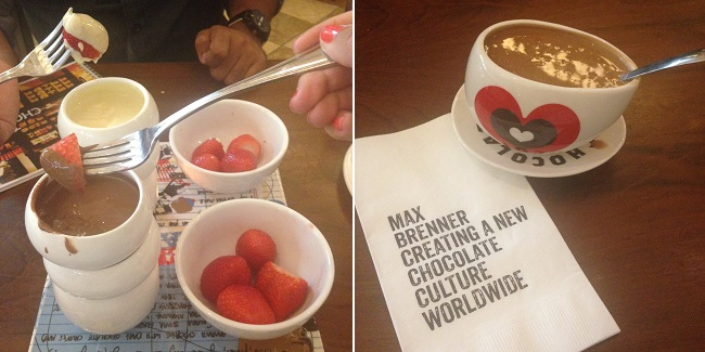 Um viva pro chocolate do Max Brenner