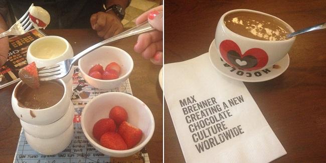 Um viva pro chocolate do Max Brenner