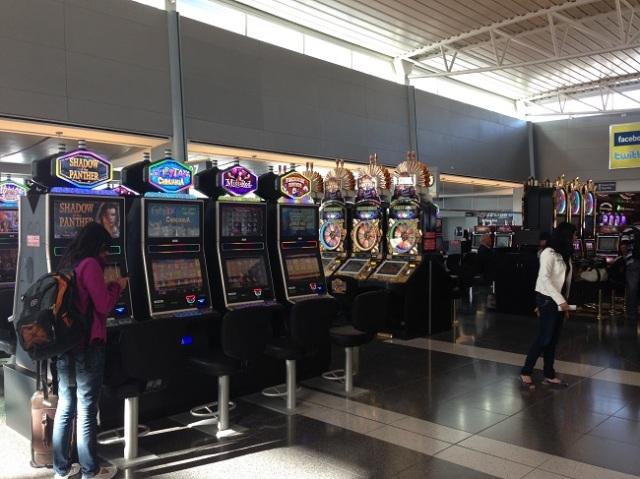 Slots já no aeroporto