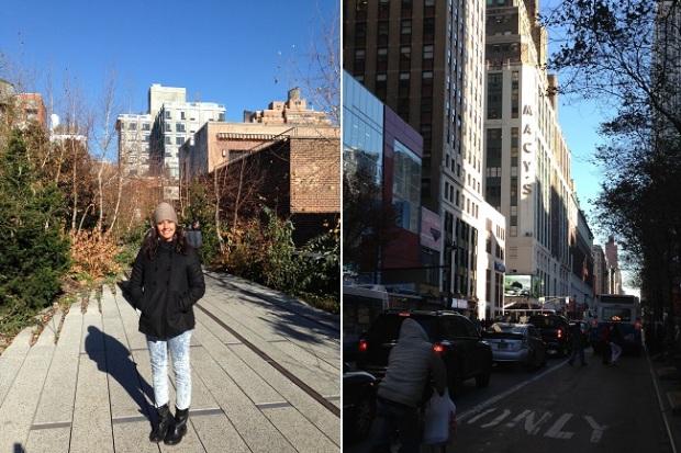 Line no Highline, e Macy's logo depois