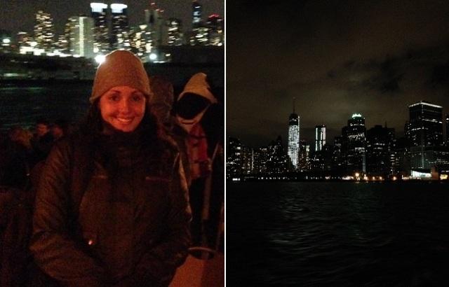 Line a vista do barco de Manhattan