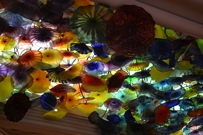 O famoso teto de vidro