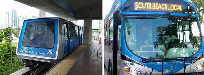 Há transporte público em Miami