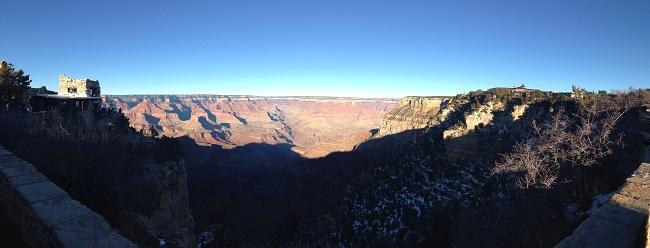 Panorâmica feita na segunda parada no Grand Canyon