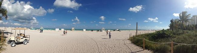 Praia limpa em SoBe