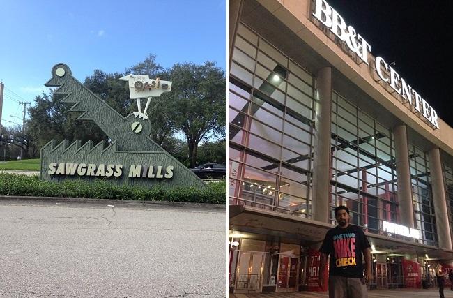 Sawgrass e BB&T são pertinho do hotel