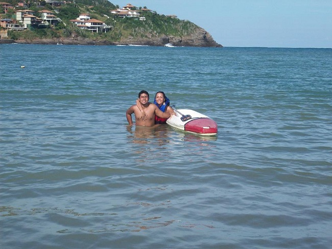 Praia da Ferradura tem caiaques