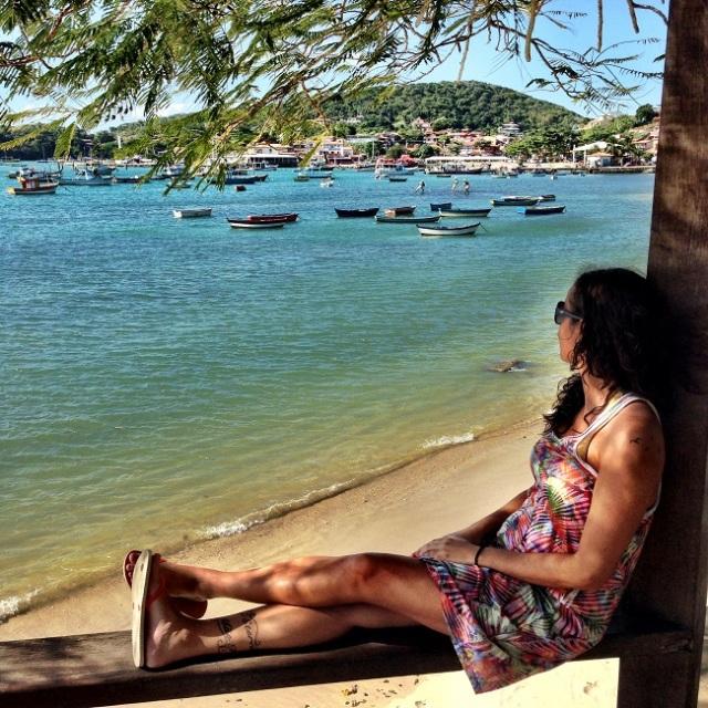 Armação de Búzios, ótimo para sentar e apreciar o mar