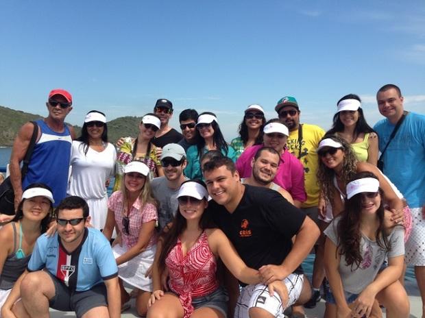 Grupo GVBB no passeio de barco com a embarcação Aloha