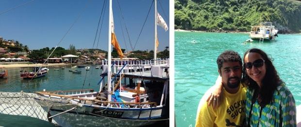 Passeio de barco com a embarcação Aloha