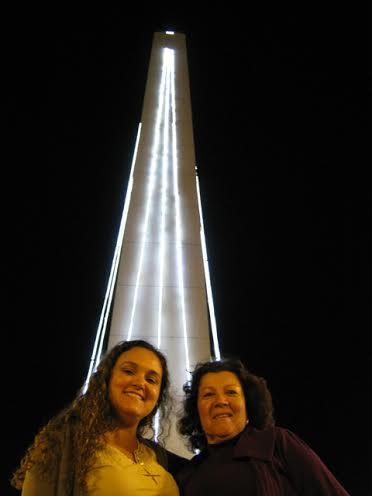 Cris e sua mãe em Buenos Aires