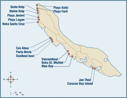 mapa curaçao