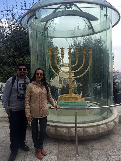 Menorá de Ouro - Jerusalém'