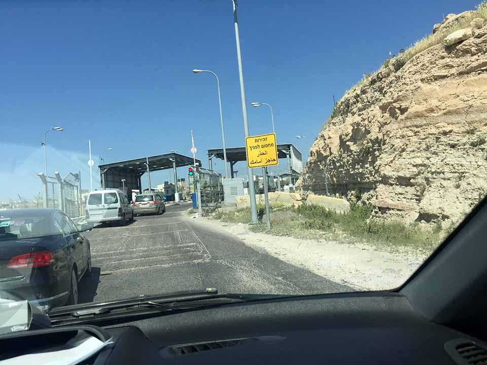 Check Point de segurança na entrada de Belém