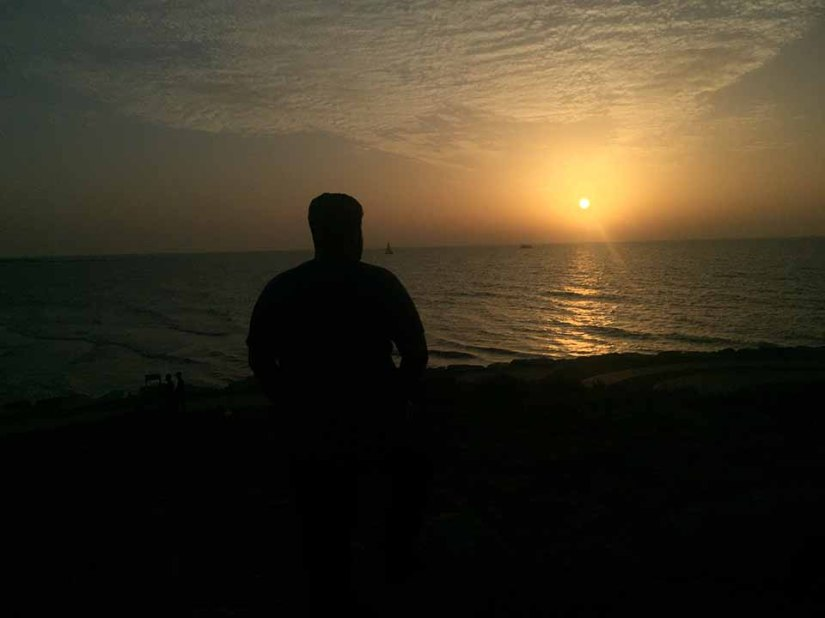 Por do sol em Tel Aviv