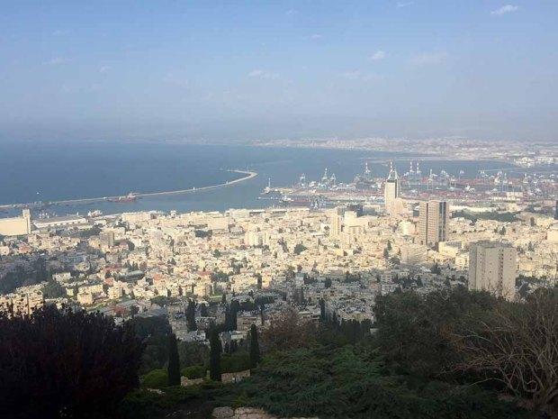 Vista da cidade de Haifa