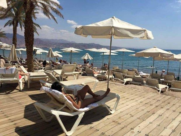Praia em Eilat